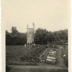 Das Land auf der Rückseite des Nebenhauses wurde zum Anbau von Gemüse und Erdbeeren genutzt. Privatarchiv Karl-Heinz Hartmann.